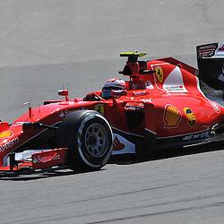 Kimi Raikkonen of Scuderia Ferrari.<br /> Round 1 - Second day of the 2015 Formula 1 Rolex Australian Grand Prix at The circuit of Albert Park, Melbourne, Victoria on the 13th March 2015.<br /> Wayne Neal | SportPix.org.uk