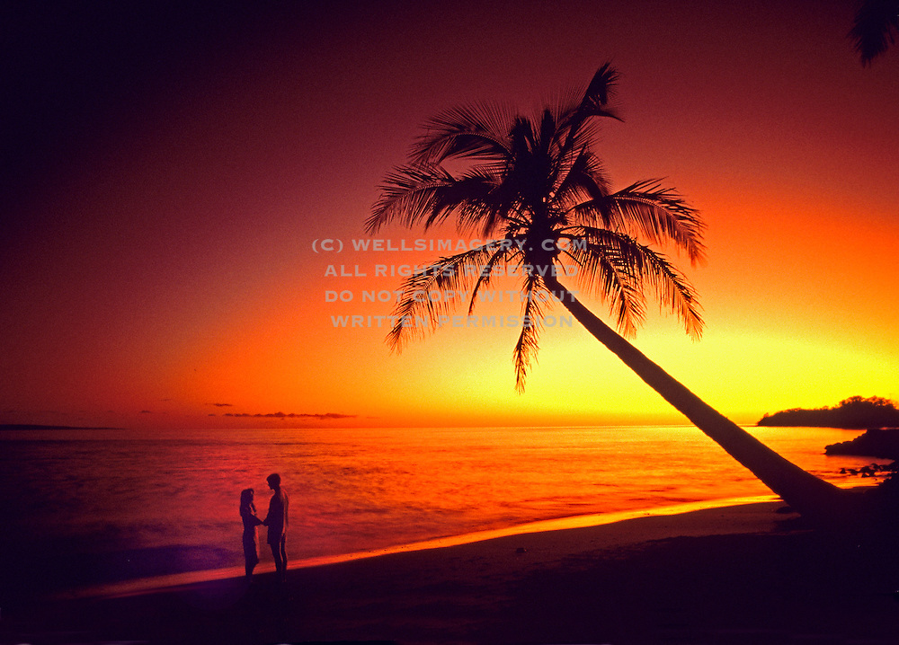 Image of a couple on the beach at Lahaina, Maui, Hawaii, Hawaiian Islands