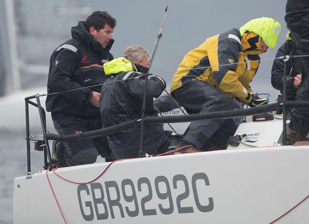 Silvers Marine Scottish Series 2017<br /> Tarbert Loch Fyne - Sailing<br /> <br /> GBR9292C, Samurai J, Alan Macleod/A Knowles, Cove SC / CCC, J92<br /> <br /> Credit: Marc Turner / CCC