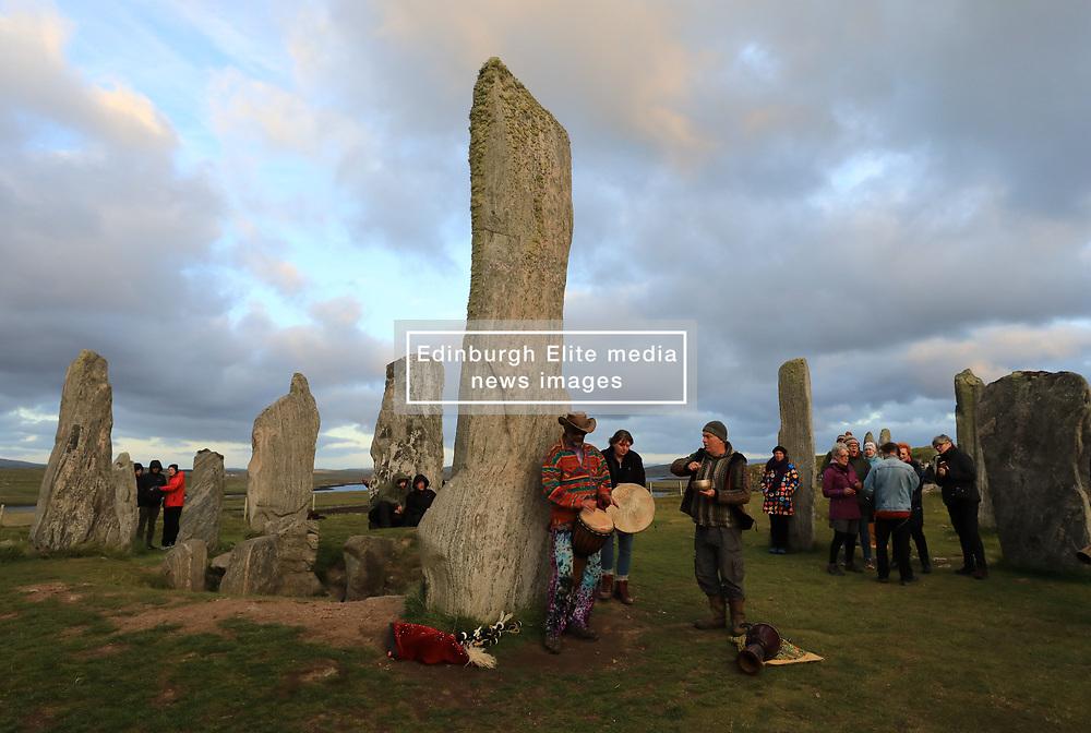 Celebrating the summer solstice at the 5000 year old Callanish Standing Stones, Isle of Lewis ........ (c) Stephen Lawson | Edinburgh Elite media