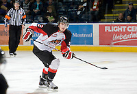 KELOWNA, CANADA, DECEMBER 3: Daniel Gibb #2 of the Price George Cougars skates on the ice as the Prince George Cougars visit the Kelowna Rockets  on December 3, 2011 at Prospera Place in Kelowna, British Columbia, Canada (Photo by Marissa Baecker/Shoot the Breeze) *** Local Caption ***