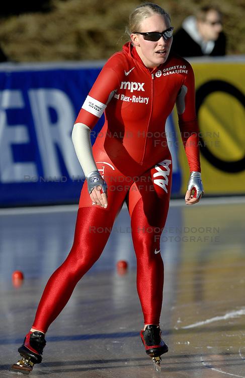 12-01-2007 SCHAATSEN: EUROPESE KAMPIOENSCHAPPEN: COLLALBO ITALIE <br /> Mari Hemmer NOR<br /> &copy;2007-WWW.FOTOHOOGENDOORN.NL