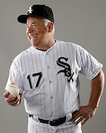 GLENDALE, ARIZONA - FEBRUARY 23:  Manager Rick Renteria #17 of the Chicago White Sox poses for a portrait during Photo Day on February 23, 2017 at Camelback Ranch in Glendale Arizona.  (Photo by Ron Vesely).  Object:  Rick Renteria