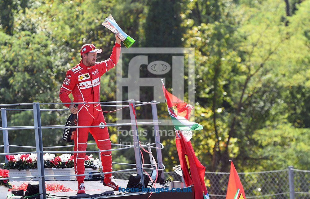 Sebastian Vettel of Scuderia Ferrari after coming third in the Italian Formula One Grand Prix at Monza National Race Track, Monza, Italy.<br /> Picture by EXPA Pictures/Focus Images Ltd 07814482222<br /> 03/09/2017<br /> *** UK & IRELAND ONLY ***<br /> <br /> EXPA-EIB-170903-0096.jpg
