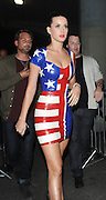 12.JUNE.2010 LONDON<br /> <br /> US POP STAR KATY PERRY LEAVING THE BLAG CLUB IN LADBROOK GROVE WEARING A HALF UNION JACK AND HALF AMERICAN FLAG DRESS BEFORE GOING ON TO THE NOBU RESTAURANT IN MAYFAIR LONDON. EARLIER IN THE EAVENING SHE WAS A GUEST ON JAMES CORDONS WORLD CUP SHOW AT LONDON STUDIOS.<br /> <br /> BYLINE: EDBIMAGEARCHIVE.COM<br /> <br /> *THIS IMAGE IS STRICTLY FOR UK NEWSPAPERS AND MAGAZINES ONLY*<br /> *FOR WORLD WIDE SALES AND WEB USE PLEASE CONTACT EDBIMAGEARCHIVE - 0208 954 5968*