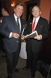Left to right, TERRY WOGAN and DAVID HOCKNEY  at the 2008 Oldie of The year Awards and lunch held at Simpsons in The Strand, London on 11th March 2008.<br />