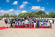 Podium Teams 1. Germany, 2 Great Britain, 3. France<br /> FEI European Championships Ponies 2016<br /> © DigiShots