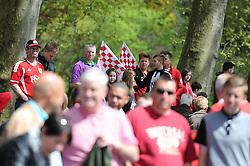 Bristol City fans wait for the Bristol City bus tour - Photo mandatory by-line: Dougie Allward/JMP - Mobile: 07966 386802 - 04/05/2015 - SPORT - Football - Bristol -  - Bristol City Celebration Tour