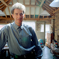 Paul Smith in his office, Floral St, Covent Gdn, London<br /> Photographed 1988<br /> <br /> Picture by Flo Smith<br /> <br /> <br /> WORLD RIGHTS