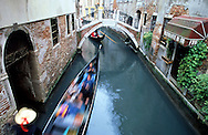Copyright JIm Rice © 2013.Gondola's on Venice canal.Italy