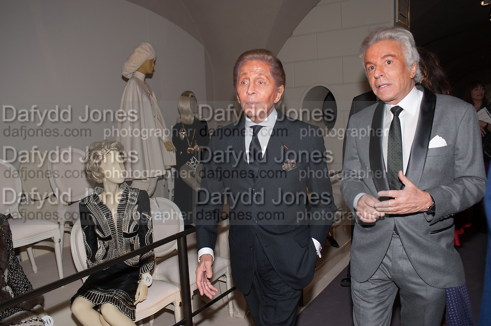 VALENTINO GARAVANI; GIANCARLO GIAMMETTI  Valentino: Master of Couture - private view. Somerset House, London. 28 November 2012