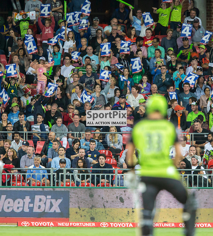KFC Big Bash League T20 2015-16 , Sydney Thunder v Perth Scorchers, Spotless Stadium; 7 January 2016<br /> Another boundary by Sydney Thunder Shane Watson