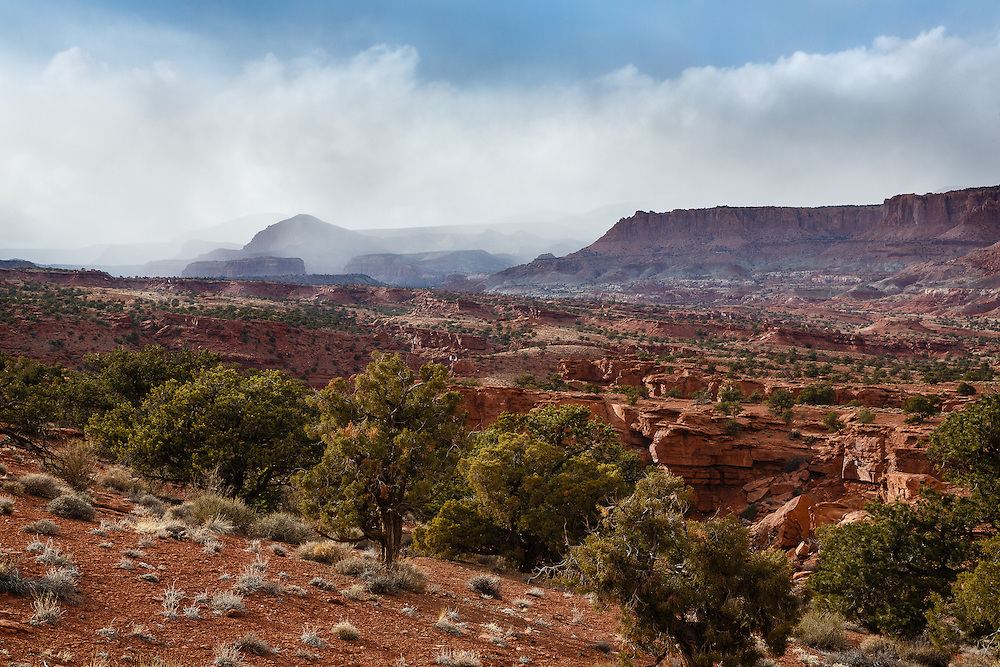 Storm rolling in at Capitol Reef National Park.