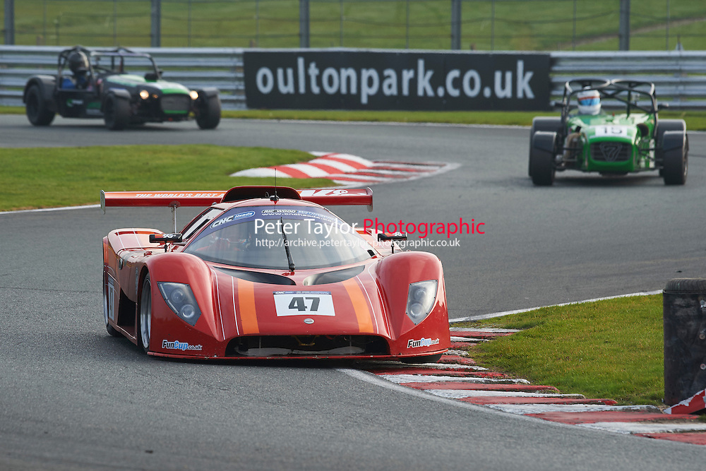#47 Steve HARRIS Saker Rapx GT during CNC Heads Sports/Saloon Championship - Race 2  as part of the BARC Championships Race Day at Oulton Park, Little Budworth, Cheshire, United Kingdom. October 03 2015. World Copyright Taylor/PSP. Copy of publication required for printed pictures.  Every used picture is fee-liable. http://archive.petertaylor-photographic.co.uk