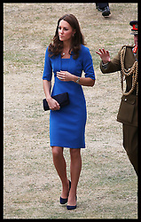 Image licensed to i-Images Picture Agency. 05/08/2014. London, United Kingdom. The Duchess of Cambridge  at the Tower of London's 'Blood Swept Lands and Seas of Red' poppy installation .  Picture by Stephen Lock / i-Images