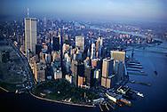 "Aerial, Lower Manhattan, in 1990""s, Battery Park"