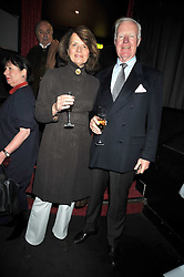"SIR JOCELYN & LADY STEVENS at a party to promote the ""American Songbook in London"" aseries of intimate concerts featuring 1959 Broadway songs, held at Pizza on The Park, Hyde Park Corner, London on 18th March 2009."