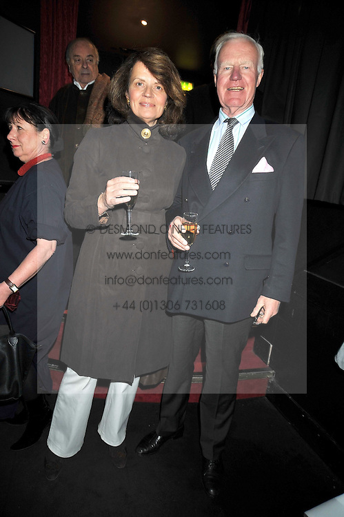 """SIR JOCELYN & LADY STEVENS at a party to promote the """"American Songbook in London"""" aseries of intimate concerts featuring 1959 Broadway songs, held at Pizza on The Park, Hyde Park Corner, London on 18th March 2009."""