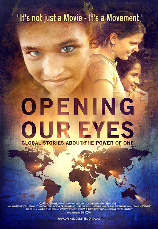 Opening Our Eyes Movie Icon Promotions: posters, flyers, postcards, dvd screen, etc.
