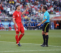 Frank Lampard appeals to Referee Jorge Larrionda about his disallowed goal<br /> England World Cup 2010<br /> Germany V England (4-1) 27/06/10 Round Of 16<br /> FIFA World Cup 2010<br /> Photo Robin Parker Fotosports International