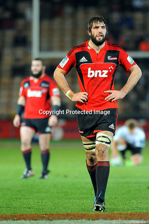 Crusaders Sam Whitelock during the. Investec Super Rugby - Crusaders v Sharks. Trafalgar Park, Nelson, New Zealand. Saturday 25 June 2011. Photo: Chris Symes/www.photosport.co.nz