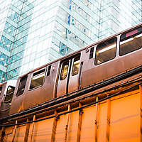 Chicago L Train elevated train high resolution photo