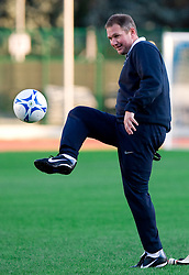 Head coach  of Slovenian National football team Matjaz Kek at practice a day before the last 2010 FIFA Qualifications match between San Marino and Slovenia, on October 13, 2009, in Olimpico Stadium, Serravalle, San Marino.  (Photo by Vid Ponikvar / Sportida)