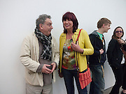 STEPHEN FREARS; JANET STREET-PORTER, Marc Quinn exhibition opening. Allanah, Buck, Catman, Michael, Pamela and Thomas. White Cube Hoxton Sq. London. 6 May 2010.  *** Local Caption *** -DO NOT ARCHIVE-© Copyright Photograph by Dafydd Jones. 248 Clapham Rd. London SW9 0PZ. Tel 0207 820 0771. www.dafjones.com.<br /> STEPHEN FREARS; JANET STREET-PORTER, Marc Quinn exhibition opening. Allanah, Buck, Catman, Michael, Pamela and Thomas. White Cube Hoxton Sq. London. 6 May 2010.