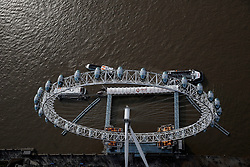 UK LONDON 23MAR19 - Aerial view of the London Eye in Central London.<br /> <br /> <br /> <br /> jre/Photo by Jiri Rezac/ Led By Donkeys