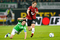 19.11.2011,Volkswagen Arena, Wolfsburg, GER, 1.FBL, VFL Wolfsburg vs Hannover 96, im Bild Christian Traesch (Wolfsburg #15) und Konstantin Rausch (Hannover #34) // during the match from GER, 1.FBL,VFL Wolfsburg vs Hannover 96 on 2011/11/19, Volkswagen Arena, Wolfsburg, Germany..EXPA Pictures © 2011, PhotoCredit: EXPA/ nph/ Schrader..***** ATTENTION - OUT OF GER, CRO *****