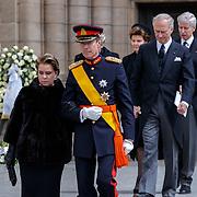 LUX/Luxemburg/20190504 -  Funeral<br /> of HRH Grand Duke Jean, Uitvaart Groothertog Jean, Groothertog Henri en partner Groothertoging Maria-Teresa