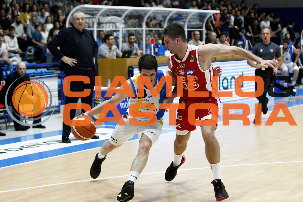 Ivanovic Vs Kalnietis<br />Betaland Capo D'Orlando Vs EA7 Emporio Armani Olimpia Milano<br />Playoff Gara 4<br />LegaBasket 2016/2017<br />Capo d&rsquo;Orlando 18/05/2017<br />Foto Ciamillo-Castoria