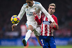 November 18, 2017 - Madrid, Madrid, Spain - Varane, Antonie Griezmann during the match between Atletico de Madrid and Real Madrid, week 12 of La Liga at Wanda Metropolitano stadium, Madrid, SPAIN - 18th November of 2017. (Credit Image: © Jose Breton/NurPhoto via ZUMA Press)