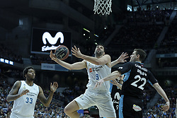 April 29, 2018 - Madrid, Madrid, Spain - FELIPE REYES  of Real Madrid in action during a Liga Endesa Basketball game between Estudiantes and Real Madrid, at the Palacio de los Deportes, in Madrid, Spain, 29 April 2018. (Credit Image: © Oscar Gonzalez/NurPhoto via ZUMA Press)
