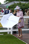 Mrs. John Evans. Royal Ascot Race meeting Ascot at York. Wednesday, 15 June 2005. ONE TIME USE ONLY - DO NOT ARCHIVE  © Copyright Photograph by Dafydd Jones 66 Stockwell Park Rd. London SW9 0DA Tel 020 7733 0108 www.dafjones.com