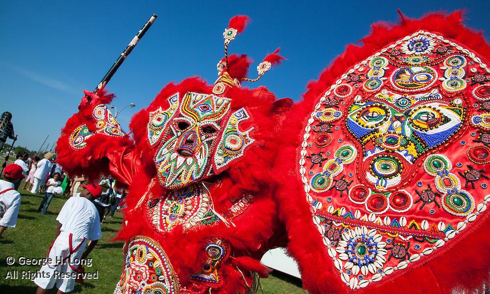 Super Sunday: Mardi Gras Indians gather and parade near Bayou St. John