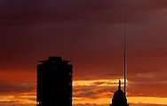 13/5/14 Pictured are Liberty Hall, The Customs House and The Spire as The sun sets over Dublin Pic: Marc O'Sullivan