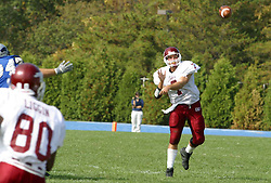 12 October 2002: Travis Turner gets free in the flats and makes a toss.  Eastern Illinois University Panthers host and defeat the Colonels of Eastern Kentucky during EIU's Homecoming at Charleston Illinois.