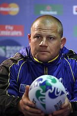Invercargill-Rugby, RWC, Romania Press Conference