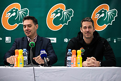 Jurica Golemac and Davor Uzbinec during press conference and introduction of new head coach for KK Cedevita Olimpija  on January 28, 2020 in Arena Stozice, Ljubljana, Slovenia. Photo By Grega Valancic / Sportida