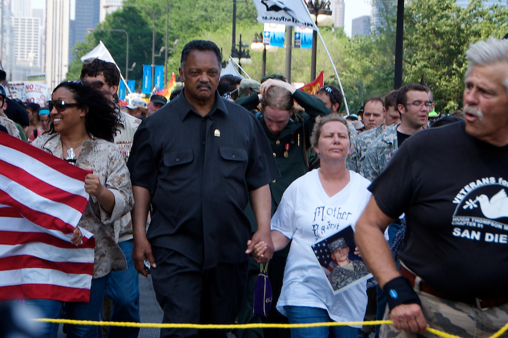 NATO Protests Chicago May 2012 Jesse Jackson
