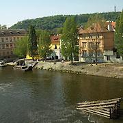 View from Charles Bridge, Prague, Czech Republic, 2007.