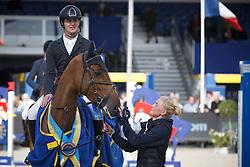 Kuipers Doron, (NED), Kerswin van't Roosakker <br /> Final 5 years old horses<br /> FEI World Breeding Jumping Championship <br /> Lanaken - Zangersheide 2015<br /> © Hippo Foto - Dirk Caremans<br /> 20/09/15
