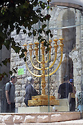 Israel, Jerusalem, Old City, Replica of the temple Menorah