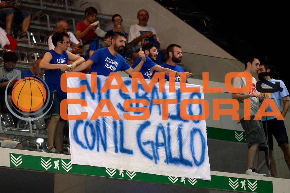 DESCRIZIONE: Torino Turin 2016 FIBA Olympic Qualifying Tournament Finale Final Italia Croazia Italy Croatia<br /> GIOCATORE : tifosi<br /> CATEGORIA : tifosi<br /> SQUADRA : Italia Italy<br /> EVENTO : 2016 FIBA Olympic Qualifying Tournament <br /> GARA : 2016 FIBA Olympic Qualifying Tournament Finale Final Italia Croazia Italy Croatia<br /> DATA : 09/07/2016<br /> SPORT: Pallacanestro<br /> AUTORE : Agenzia Ciamillo-Castoria/Max.Ceretti <br /> Galleria : 2016 FIBA Olympic Qualifying Tournament <br /> Fotonotizia : Torino Turin 2016 FIBA Olympic Qualifying Tournament Finale Final Italia Croazia Italy Croatia<br /> Predefinita :
