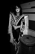Photo of Spaceman from the band Kiss backstage in Rome 1980