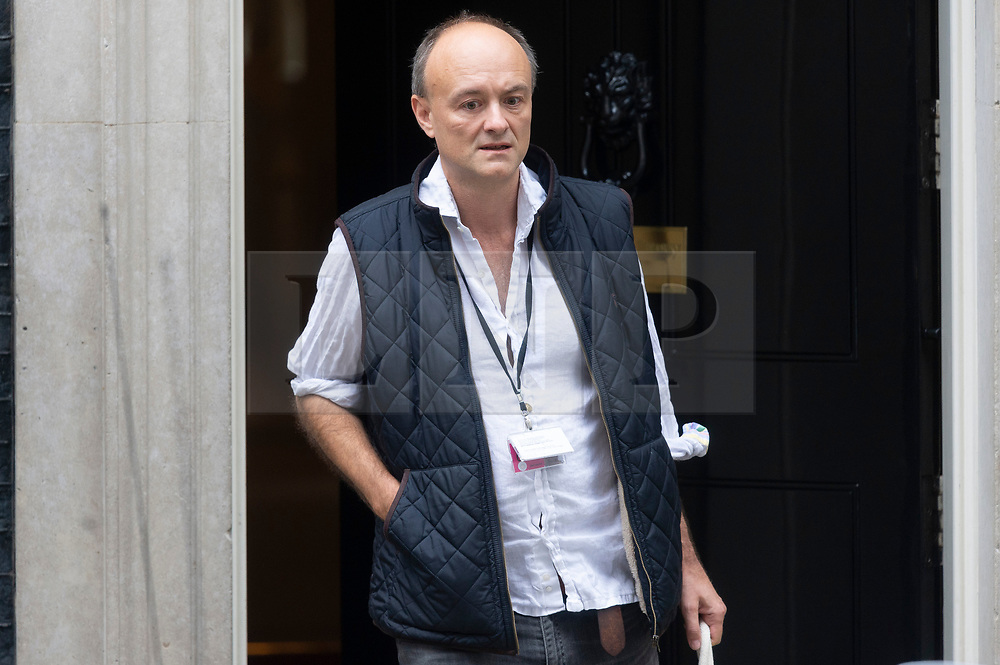 © Licensed to London News Pictures. 04/09/2019. London, UK. Dominic Cummings, special advisor to British Prime Minister Boris Johnson leaves No.10 Downing St to attend Prime Ministers Time in the Houses of Parliament. Photo credit: Ray Tang/LNP