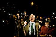 """Roma 21 Novembre 2014<br /> Manifestazione contro prostituzione e degrado all' EUR, organizzata dal comitato di quartiere """"Ripartiamo dall'Eur"""" e dall'associazione commercianti della zona. La manifestazione è stata indetta per chiedere un intervento dalle istituzioni sulla prostituzione e il degrado nel quartiere. Mario Borghezio eurodeputato della Lega Nord, intervistato dai giornalisti.<br /> Rome November 21, 2014<br /> Demonstration against prostitution and degradation in the EUR district, organized by the neighborhood committee, and by the traders in the area The demonstration was called to request assistance from the institutions against prostitution and degradation in the neighborhood. Mario Borghezio of the Northern League MEP, interviewed by journalists."""