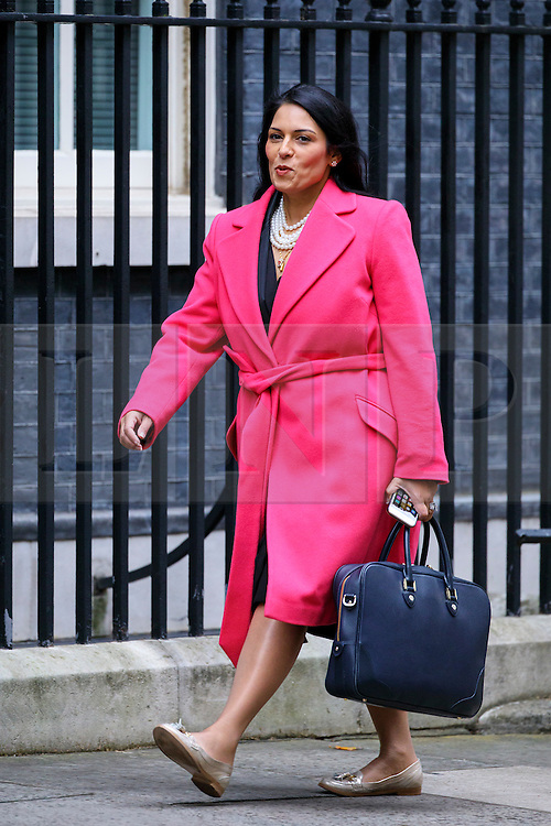 © Licensed to London News Pictures. 18/10/2016. London, UK. International Development Secretary PRITI PATEL attends a cabinet meeting in Downing Street on Tuesday, 18 October 2016. Photo credit: Tolga Akmen/LNP