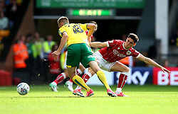Callum O'Dowda of Bristol City tackles Marco Stiepermann of Norwich City - Mandatory by-line: Robbie Stephenson/JMP - 23/09/2017 - FOOTBALL - Carrow Road - Norwich, England - Norwich City v Bristol City - Sky Bet Championship